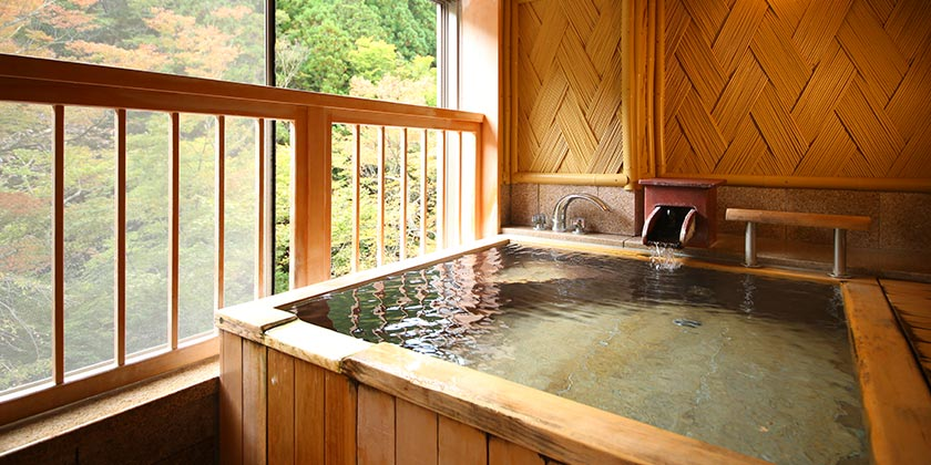 貸切風呂 木造風呂「文殊」